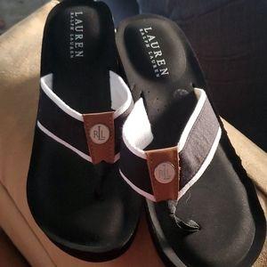 Ralph Lauren JANE  Wedge Flip Flop Sandals